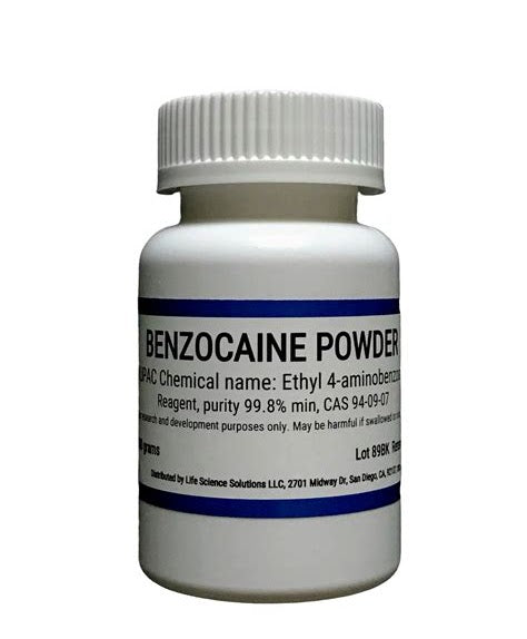 Benzocaine Powder, 99.9%, 25 grams
