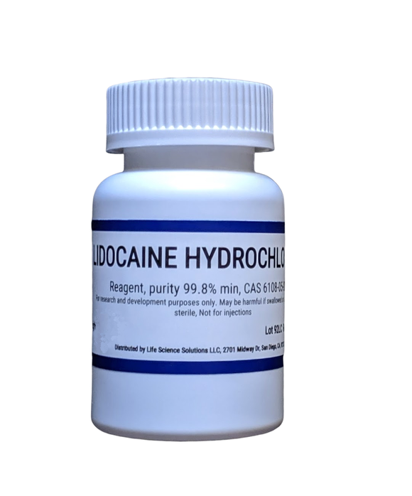 Lidocaine powder - Lidocaine HCl, reagent, purity 99.9%, 100 grams