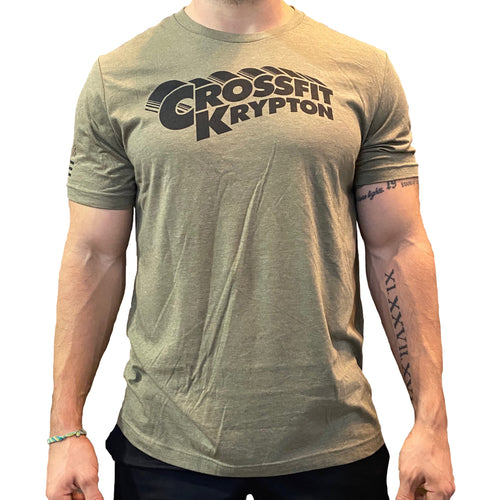 Krypton Army Green Tee - Men's