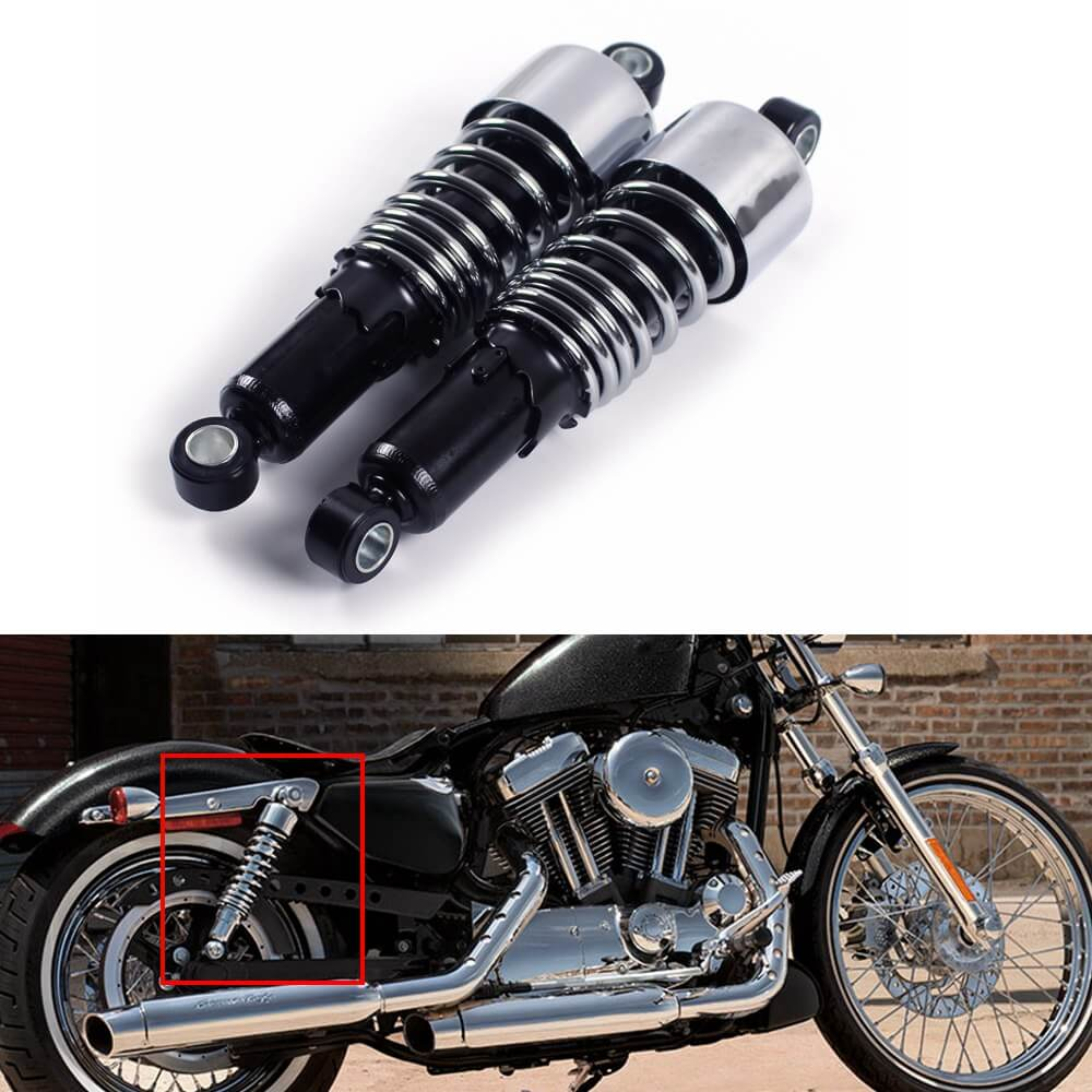 """Motorcycle 10.5/"""" 267mm Shock Absorber Suspension Fit Harley Dyna Electra Glide"""