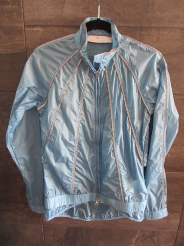 Adidas Stella McCartney Run rain sheer sky blue zip up wind breaker size S