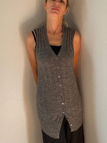 Alexander Wang gray sleeveless cardigan size XS