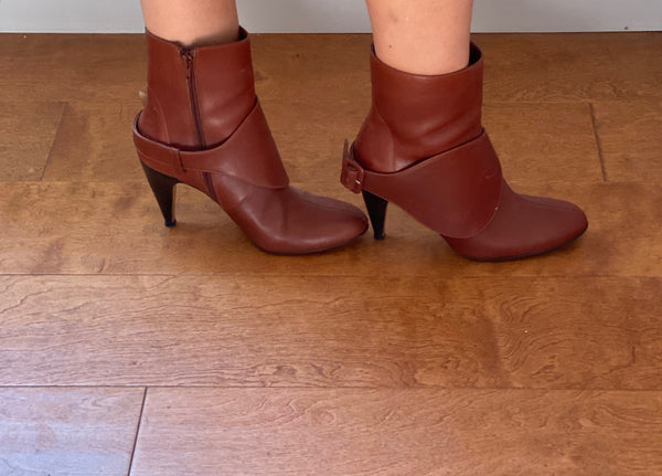 Marni rust color short bootie size 38.5 made in italy