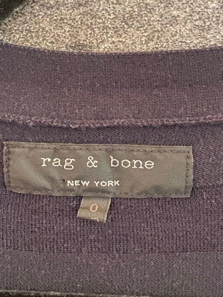 Rag and Bone cotton navy cardigan size 0