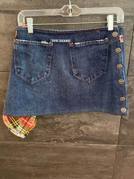 JPG Jean Paul Gaultier Jeans denim mini skirt siz 6 made in Italy