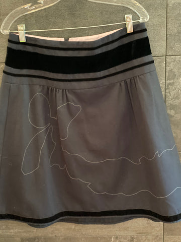 Nanette Lepore black skirt size 8 made in USA