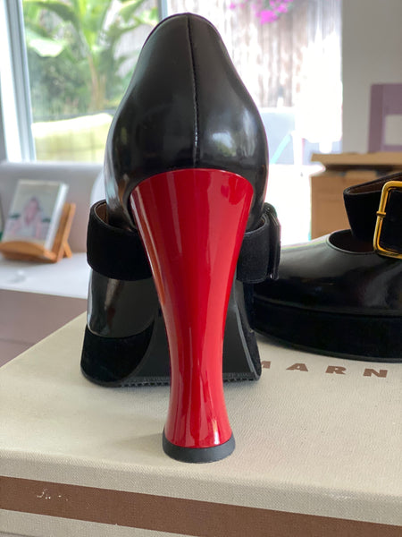 Marni black/red Mary Janes size 37 made in Italy