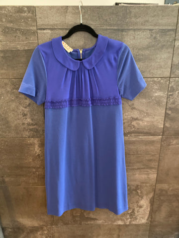 Marni little blue cotton blend dress made in Italy size S (40)