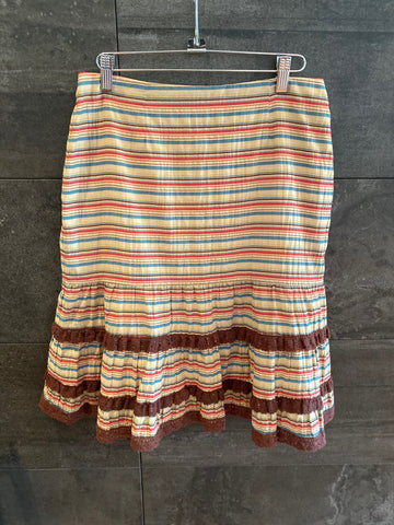Nanette Lepore  multi color cotton skirt size 4