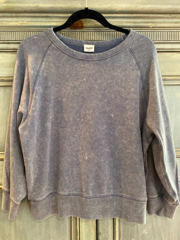 RE/DONE Faded Blue Raglan Sleeve Sweatshirt size S made in USA