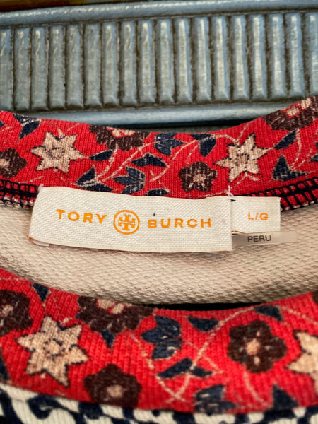 Tory Burch multi color S/S top size L