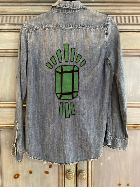 Mother The Double Foxy denim shirt size S
