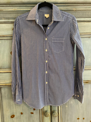 Nili Lotan Botton down striped shirt size S