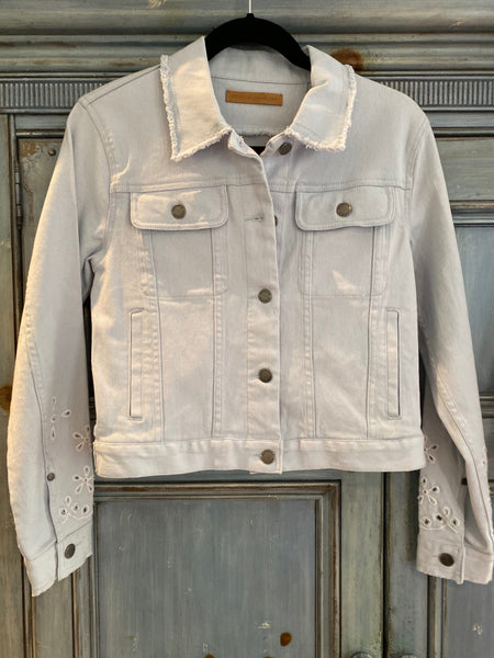 Rebecca Minkoff Verona pale blue denim jacket S