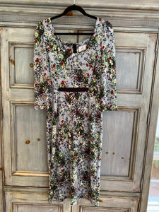 Erdem Tess pale blue floral dress size 10