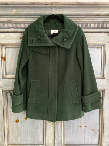 Akris Punto deep green thick wool/angora jacket size US 4
