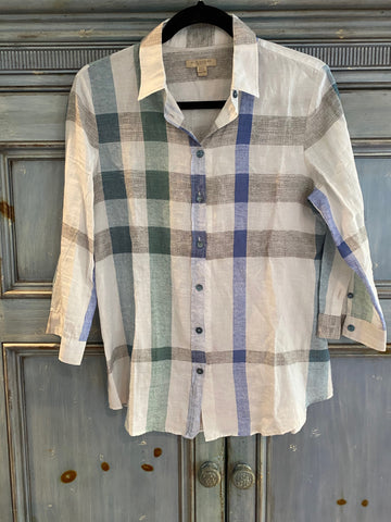 Burberry Brit striped check shirt size S