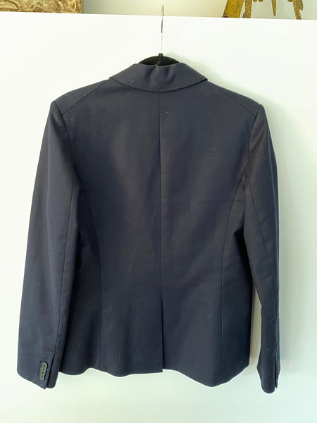 Veronica Beard classic one button navy blazer size 8