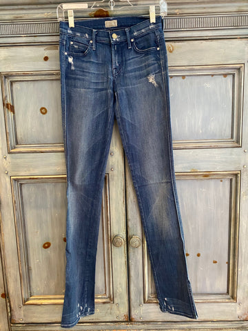 Mother The Slasher Hillbilly Heart jeans size 25