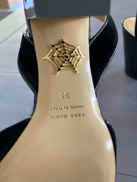 Charlotte Olympia Kitty Sling Back size 38 New