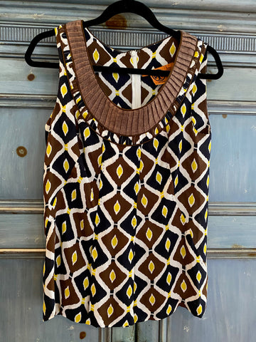 Tory Burch silk sleeveless blouse size L