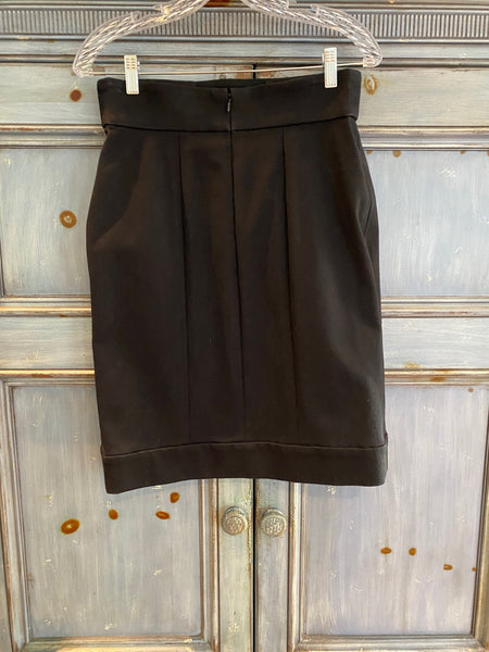 Authentic Chanel Boutique black skirt size 44 made in France