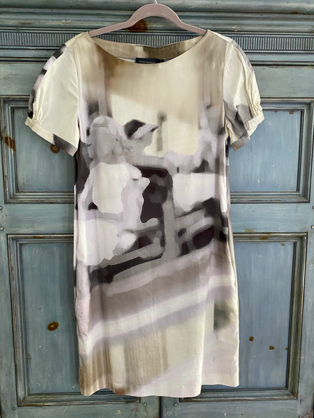 Piazza Sempione water color shift dress size 44 NWT