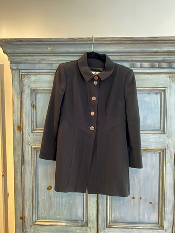 Fendi black jacket size 8 made in Italy