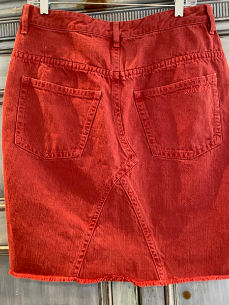 Isabel Marant Etoile Fadow red denim skirt size 42