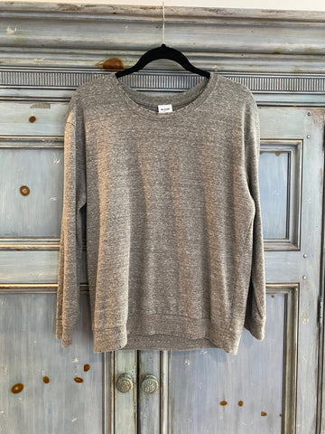 RE/DONE gray L/S top size M made in USA