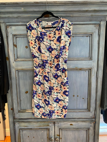 Gerard Darel sleeveless silk floral Dres size 40
