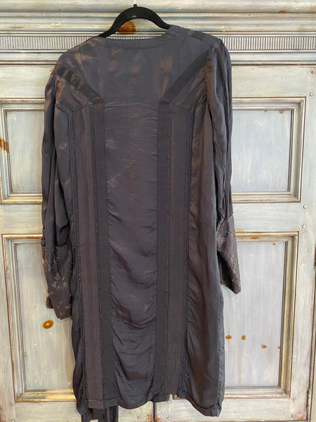 Dries Van Noten blue dress/coat size 42 made in Belgium
