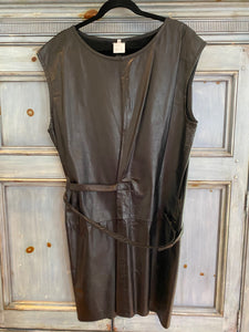 Ann Demeulemeester black leather dress size 40 made in Belgium