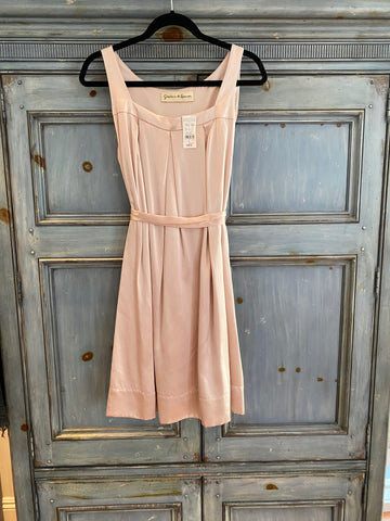 Graham & Spencer pale pink silk dress size L NWT