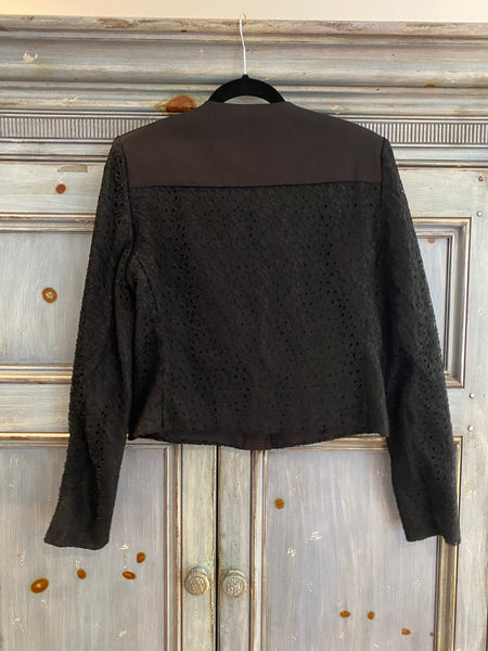 Jason Wu Corded Lace & Twill Crop Jacket size 6 NWT