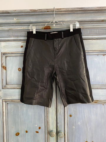 IRO Augie black leather shorts size 36