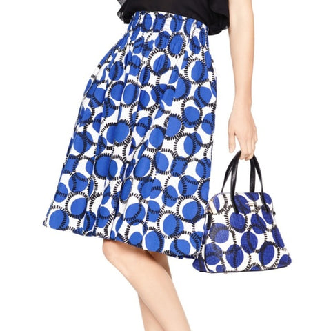 Women's Blue Blaire Stamp Dot Print skirt size 8