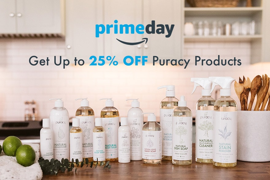 Save 25% off Puracy for Prime Day, July 15 and 16