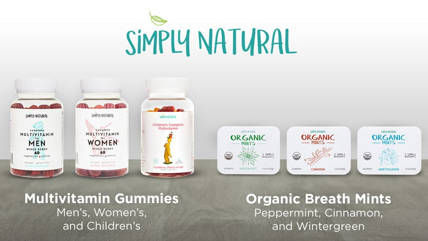 Simply Natural Vitamins and Mints