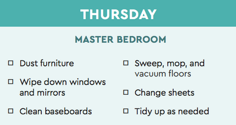 bedroom cleaning guide