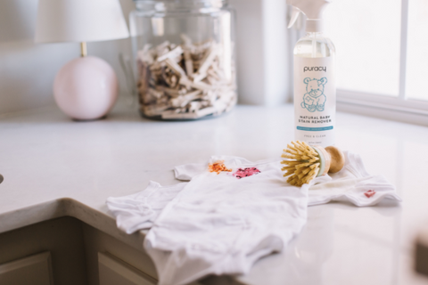 how to get food stains out of baby clothes