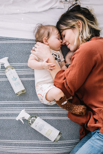 Baby and mom with Puracy Natural Household Products