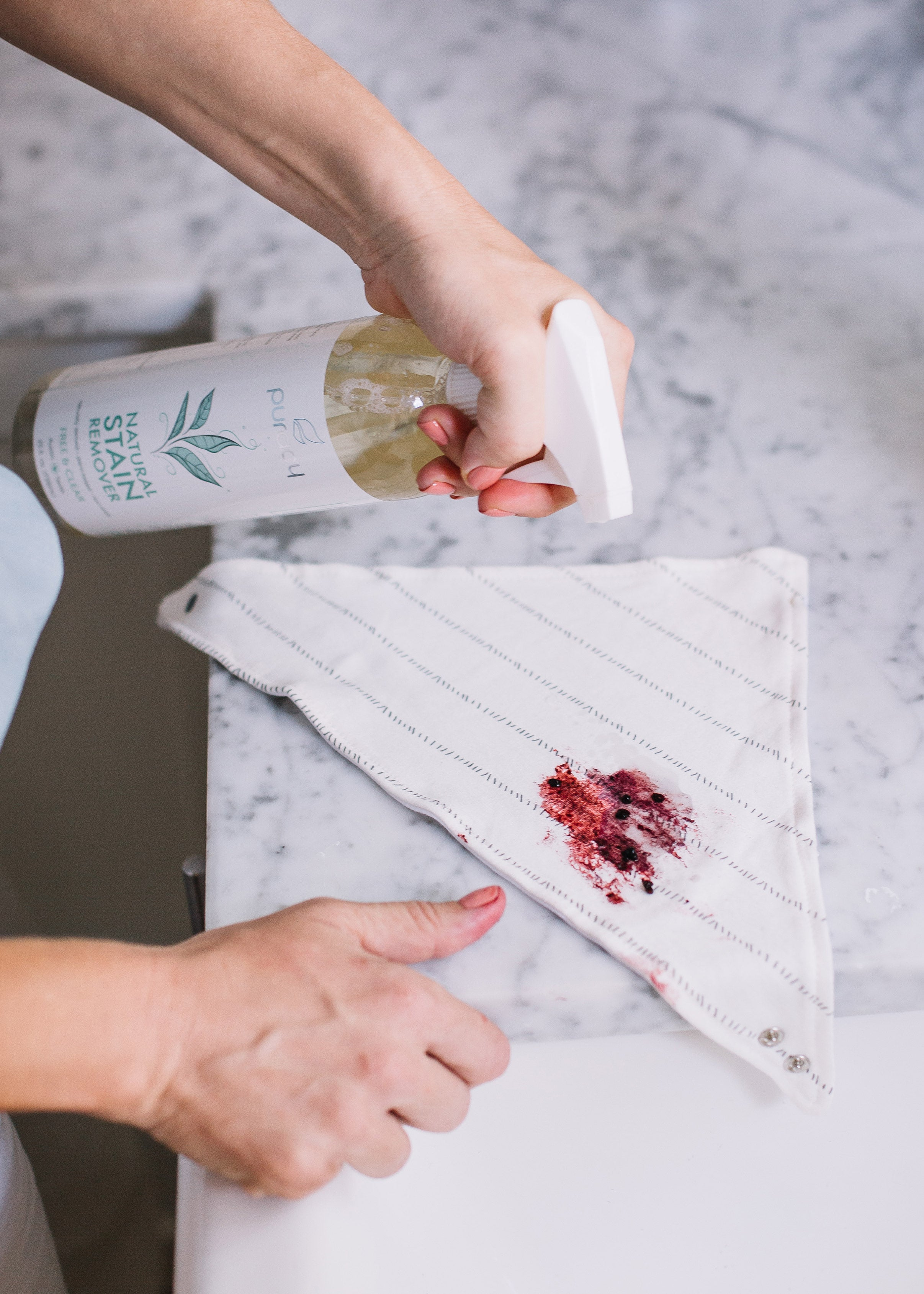 Clean stains with Puracy Natural Stain Remover
