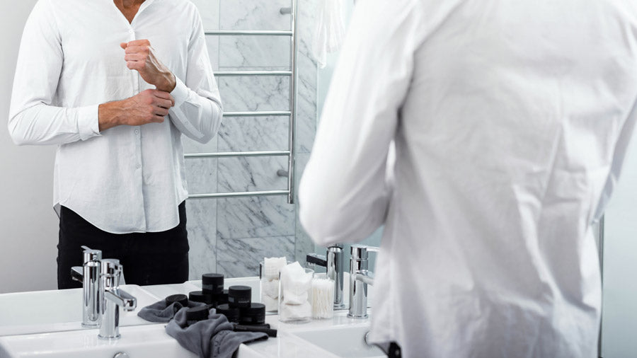 remove stains from dress shirts