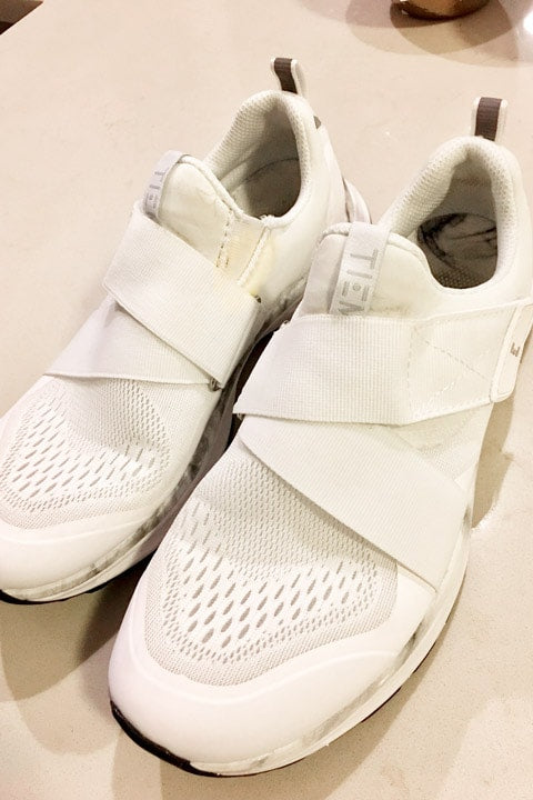 Clean sneakers after using Puracy Natural Stain Remover