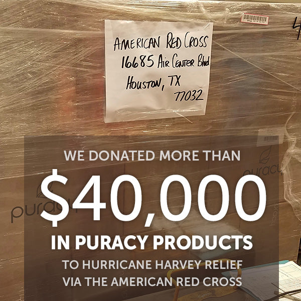Puracy donated more than $40,000 in products to hurricane-relief efforts