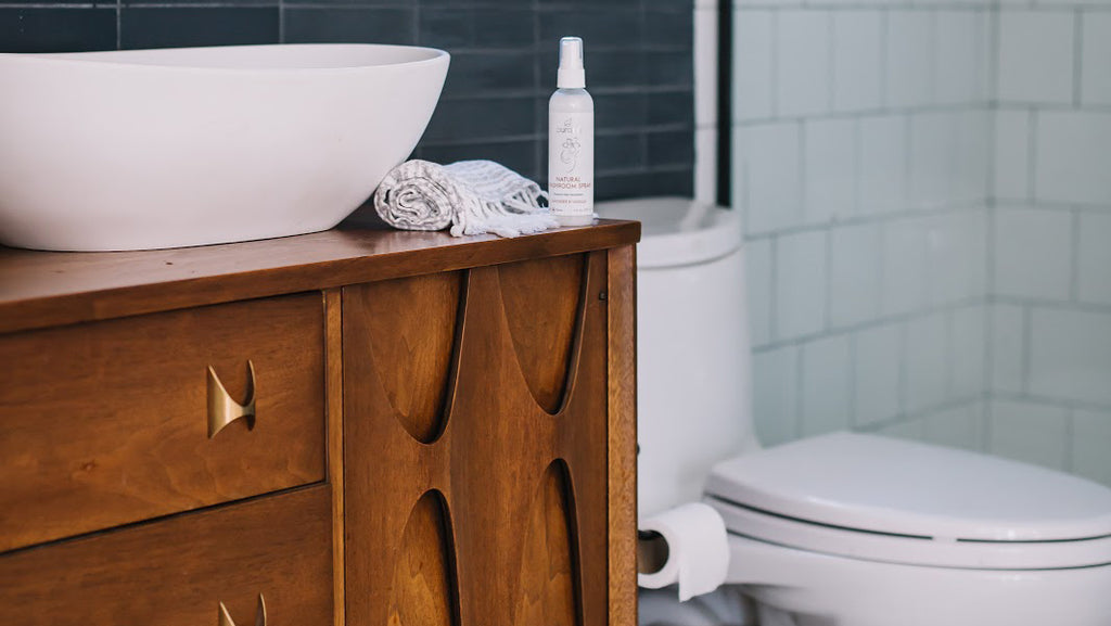 clean toilet with natural products