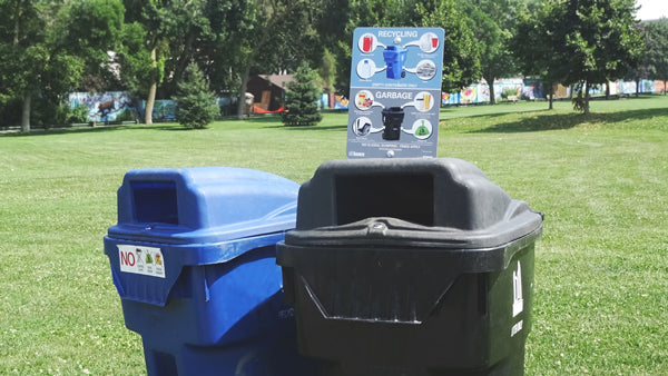 recycle and discard trash