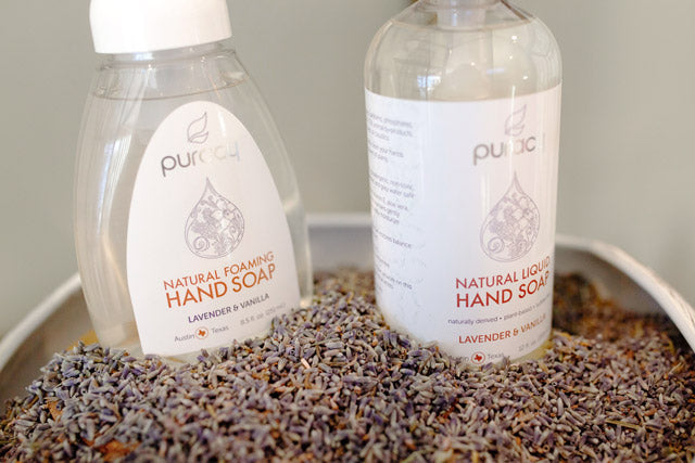 Puracy Natural Hand Soap in Lavender and Vanilla scent
