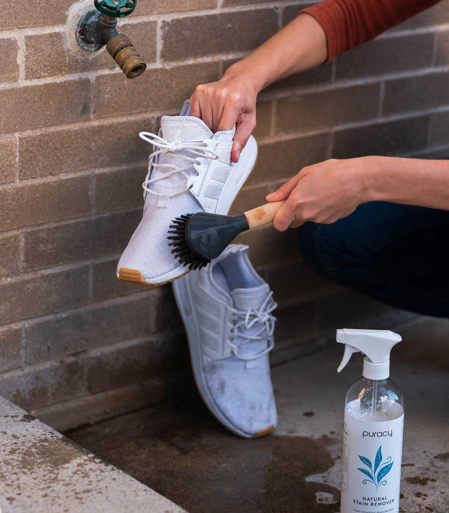 how to clean white fabric sneakers